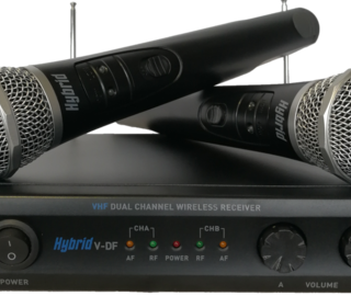 hybrid vdf vhf wireless mic