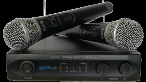 hybrid vdf vhf wireless mic