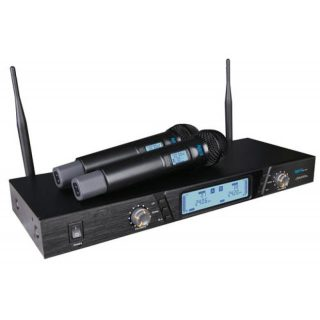 hybrid gdv dual wireless microphone